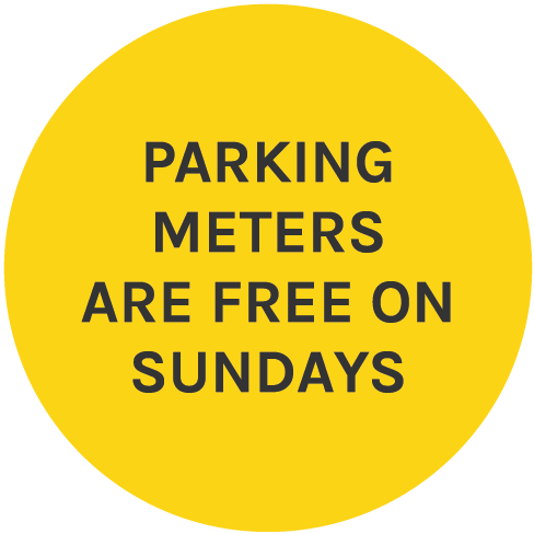 Parking Meters are Free on Sundays